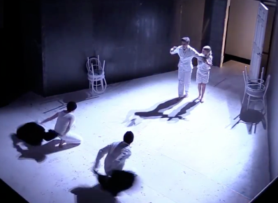Still from Jacob Sevart's Video Recording of the Production